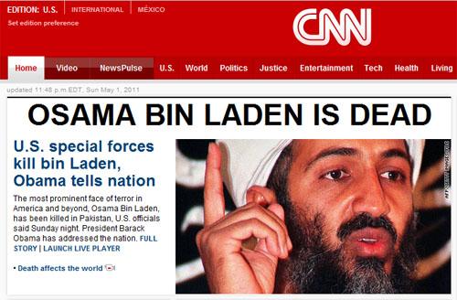 Osama Bin Laden confirmed dead