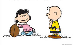 Charlie Brown debating on an extra point rule change