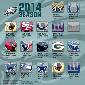 2014 Philadelphia Eagles Schedule